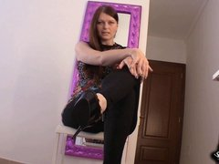 High Heels Worship FemDom POV JOI - Domina High Heels lecken