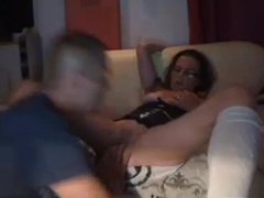german couple, she likes to receive a fist