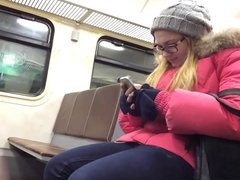 Public Train - Masturbation & Ejaculation!