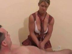 Another Woman Jerking a Defenseless Man's Cock-daddi
