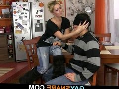 Girl tricks him into gaysex