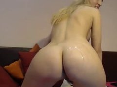 Sexy girl with many oil and hot music