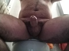 Jerk off and cum in the bathroom  29-03-2015