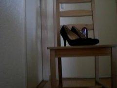 my own high heels in my asspussy