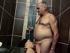 Blowjob in bathroom