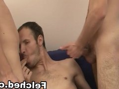 Felched Gays on Threesome Anal Sex