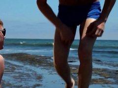 Beach Speedo Twinks