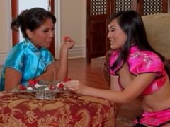 Asian Lesbians playing together