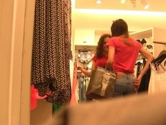 Two Cute Latina Teens Shoppin' (Graz 10)