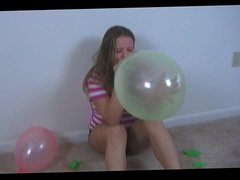 BBW Krtisty plays with Balloons