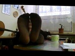 Pantyhose Feet Wife