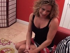 Mommy Footjob on Birthday