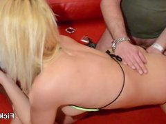 Blonde Pornstar Kitty Core and other Teen in Real Gangbang
