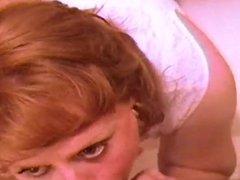 Mature redhead shower and sucks