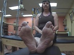 candid yoga feet