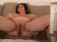 Big boobs spreading milf cum tribute