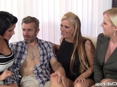 Mature Group Sex With 3 Horny MILFs!