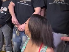 Cherry Hilson Sucks And Fucks A Dozen White Cocks