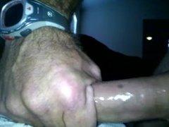 Str8 daddy fucks his hand