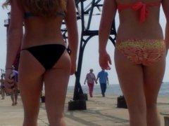 Candid Beach Bikini Ass Butt West Michigan Booty Red 10