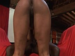 Thick Ebony Gets A Cock In Her Big Ass