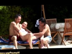 Voyeur Papy in french teen gangbang