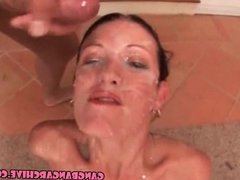 Gangbang Archive - white MILF slut fucjed by 10 guys