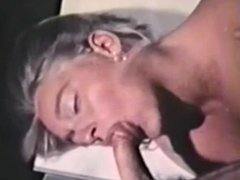 Vintage - Hairy Secretary Takes A Cumshot In Her Ear