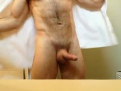 Hairy guy in the shower