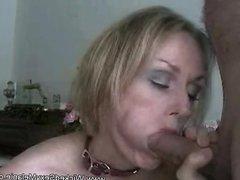Stepmom Blows Stepson's Cock