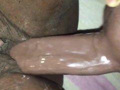 Ebony big clit cumming hard wet & creamy