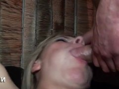 Horny french milf hard double penetrated and gangbanged