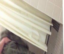 Bearded guy in locker shower