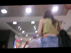 Skinny Young Girl Ass at Store