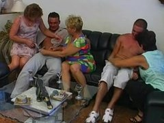 3 GRANNIES &  MATURES FUCKED BY 2 MEN