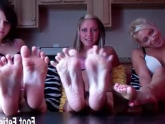 Lick and suck our toes you little bitch