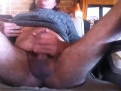 Masturbating to cum after watching shemale porn
