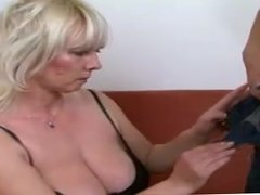 Old Blonde Bitch Fucked Hard And Cummed On