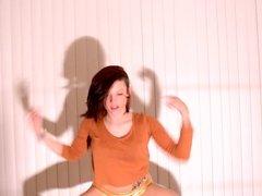 Tight ass brunette dance