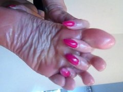 mistress shows off her beautiful tiny size 3 feet