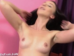Gorgeous girls show off their blowjob skills