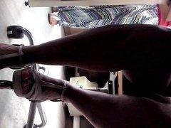 CoWorker Hot Legs Under Desk