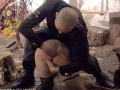 Bizarre humiliation and strict whipping of amateur slavegirl