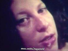 Red Lipped Vixen Sucks and Fucks Lover (1970s Vintage)