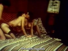 2 Hairy Girls get Freaky with very Big Cock (1970s Vintage)