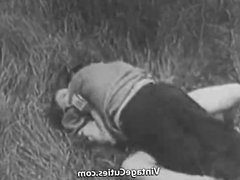 Rough Sex in Green Meadow (1930s Vintage)