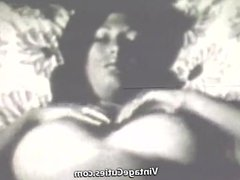 Stunning Babe Swallows Cock (1970s Vintage)