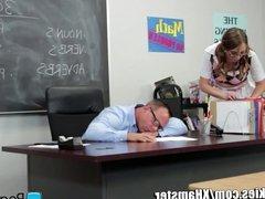 Schoolgirl Facialed by Dirty Teacher