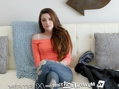 MyVeryFirstTime - Alex Mae struggles with her first anal