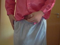 satin skirt satin blouse